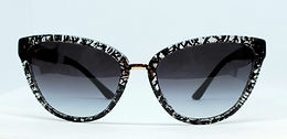 Bulgari 8165B Sunglasses Black/White Graffiti