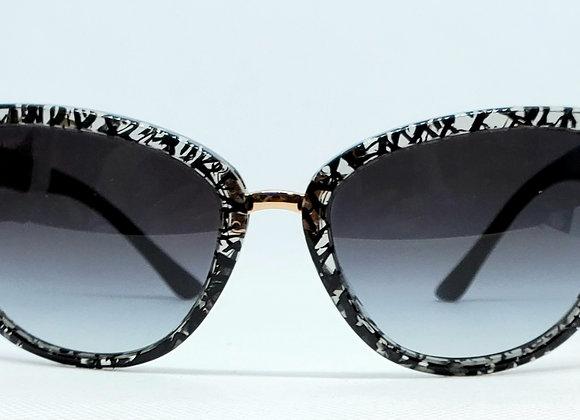 Bulgari 8165B Sunglasses Black/White Graffiti