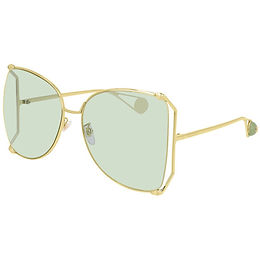 Gucci 0252S-012 Gold/Green