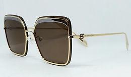 Alexander McQueen AM0222SK Sunglasses Gold/Brown