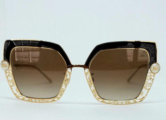 Dolce & Gabbana DG2251-H 1320-13 Sunglasses Gold/Black