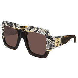 Gucci GG0484S-001 Python Skin Havana/Brown Limited Edition
