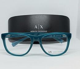 Armani Exchange AX3002-8034 Eyeglass Frame Poseidon Blue