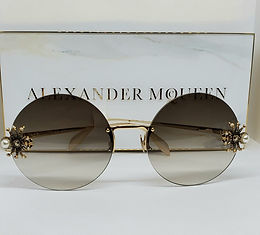 Alexander McQueen 207S Sunglasses Gold Limited Edition