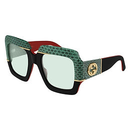 Gucci GG0484S-003 Python Skin Black/Green Limited Edition