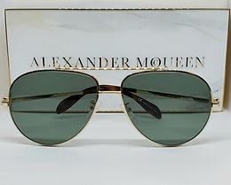 Alexander McQueen 172S Sunglasses Gold/Green