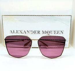 Alexander McQueen AM136S Sunglasses Gold/Lilac Pink
