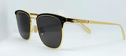 Alexander McQueen AM0202S Sunglasses Gold/Black Rhinestones