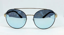 Bulgari 6085B Sunglasses Blue Mirror/Black