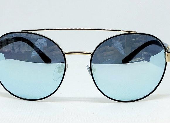 Bulgari 6085B Sunglasses Blue Mirror/Black