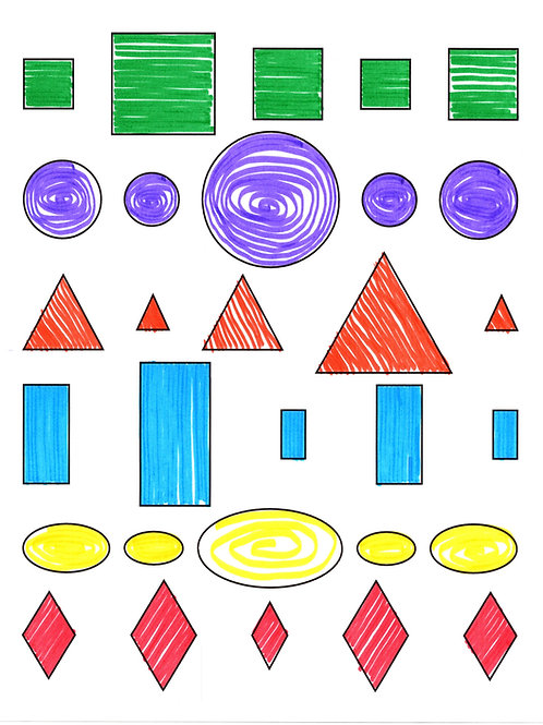 Shapes Coloring Packet