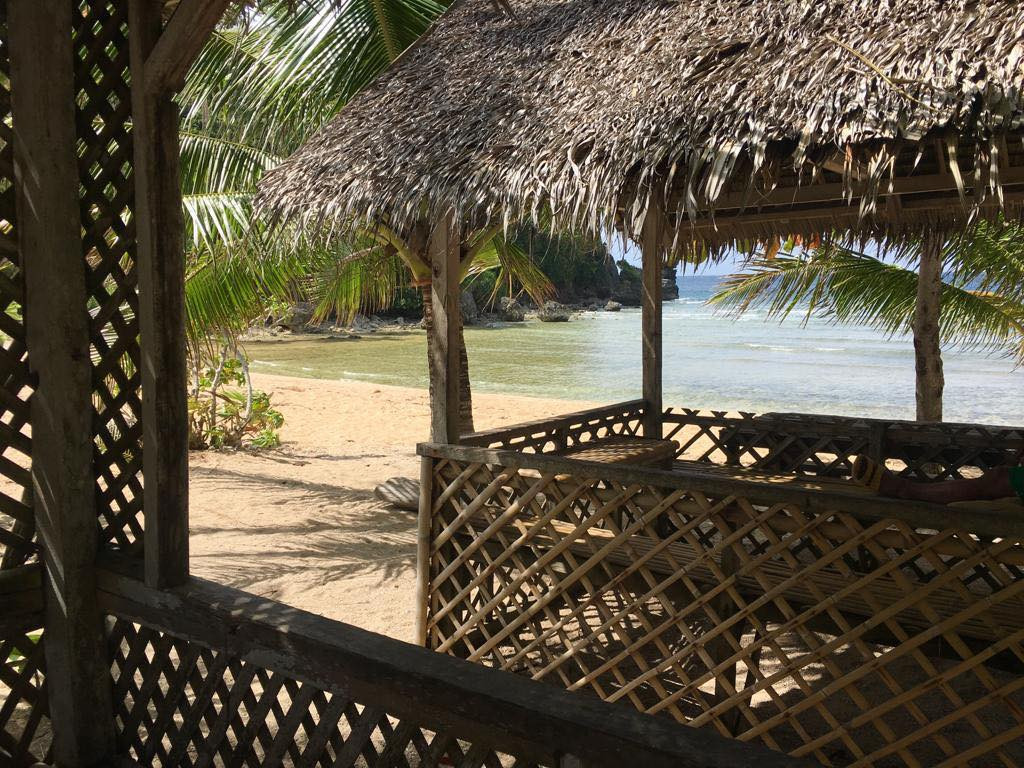 Bambushütte am Strand