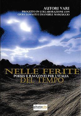 """Cover di """"Nelle ferite del tempo"""", antologia di poesia e racconti a scopo benefico"""