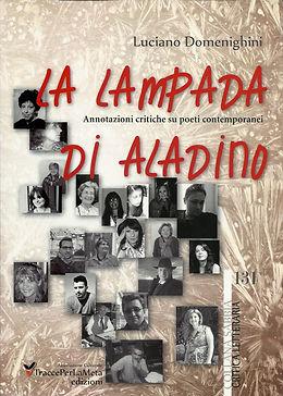 """Cover di """"La Lampada di Aladino"""", antologia poetica a cura di Luciano Domenighini"""