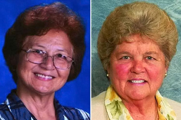 Sister Lana Chang (left) and Sister Mary Kreuper (right) embezzled about half a million dollars from the school they worked at.