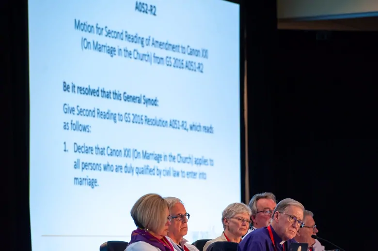The Anglican Church holds a vote on recognizing same-sex marriage on Friday night. (Anglican Church of Canada)