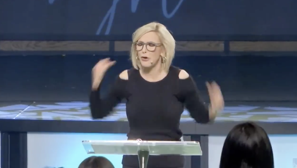 """Paula White calls for Jesus to """"command all satanic pregnancies to miscarry right now."""" [Twitter]"""