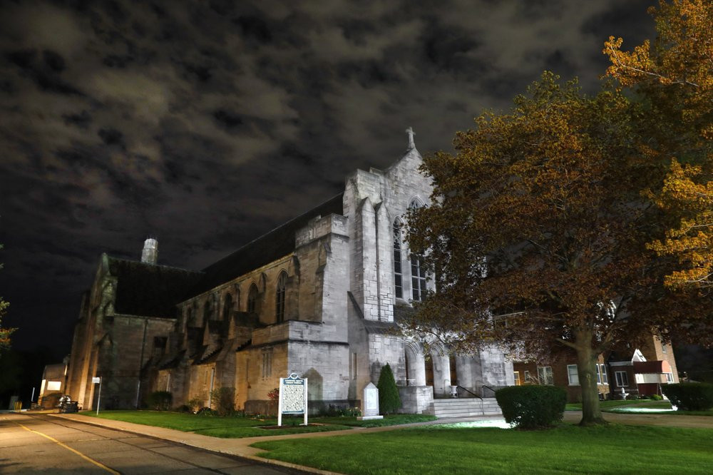 The Assumption of the Blessed Virgin Mary Church in Detroit, MI. (AP Photo/Paul Sancya)