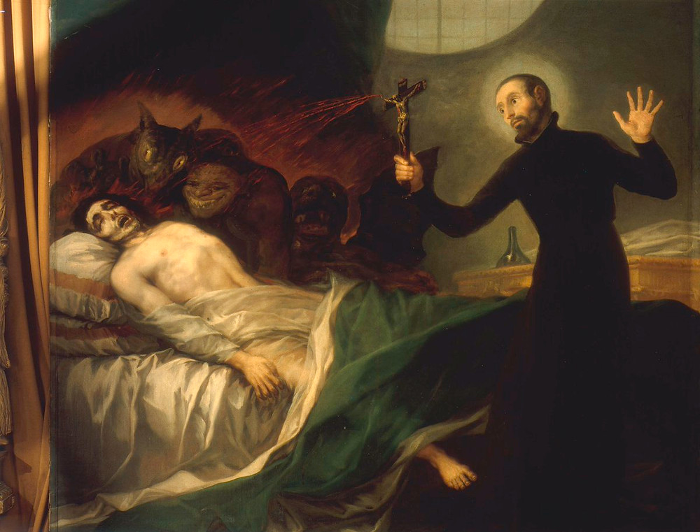 St. Francis Borgia Helping a Dying Impenitent, 1795 (oil on canvas), Francisco Jose de Goya y Lucientes