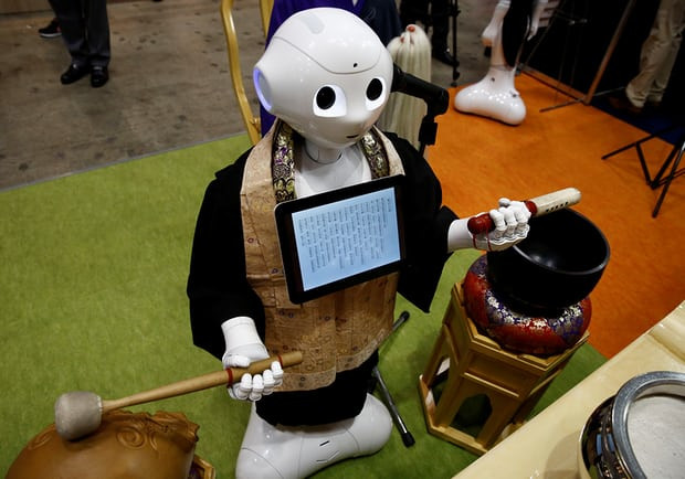 Robot priests are also more adorable than their human counterparts.