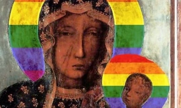 The Polish interior minister described the altered image of the 'Black Madonna of Częstochowa' as 'cultural barbarism'. Photograph: Handout
