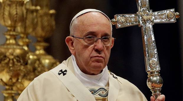 Pope Francis and that shiny cross...