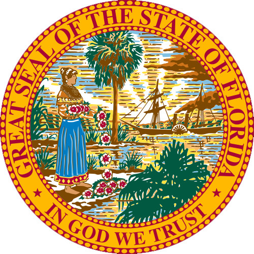 The Florida state seal.