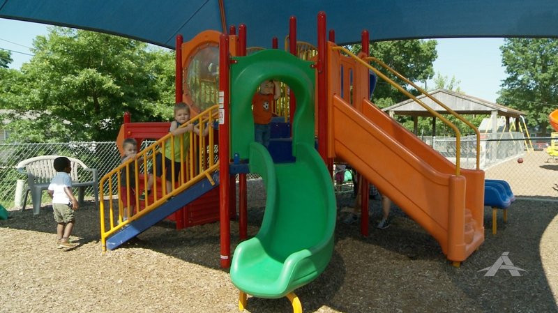 Children playing in the Trinity Lutheran playground
