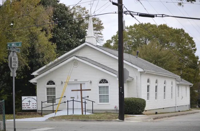 The Bethel African Methodist Episcopal Church was the planned target of the attack. Nick Bowman (AP)