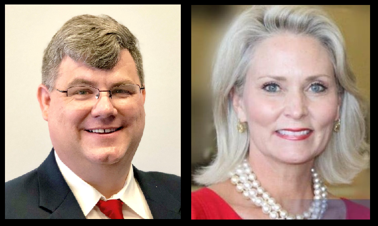 GOP Rep. Michael Capps, of Kansas (left), and GOP Rep. Jill Ford (right), of Mississippi.