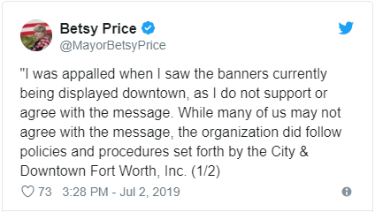 Mayor Betsy Price on Twitter.