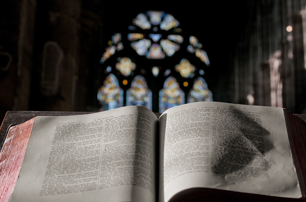 A Bible open during a sermon (iStock)