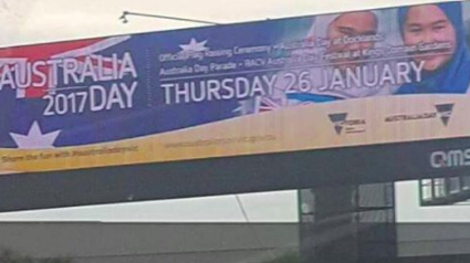 Australia Day Billboard Taken Down Because It Contained Muslim Girls