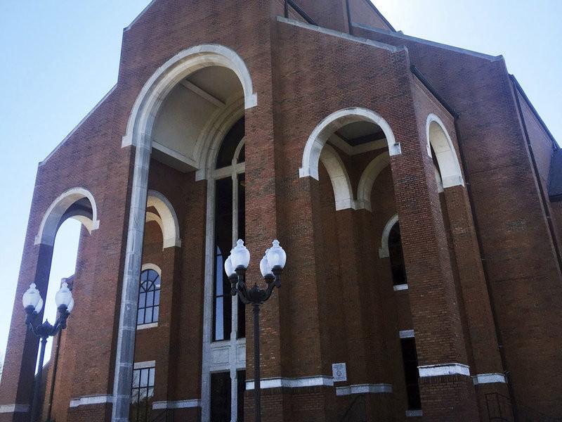 The sanctuary at Briarwood Presbyterian Church, in Birmingham, AL. Anthony Izaguirre/AP