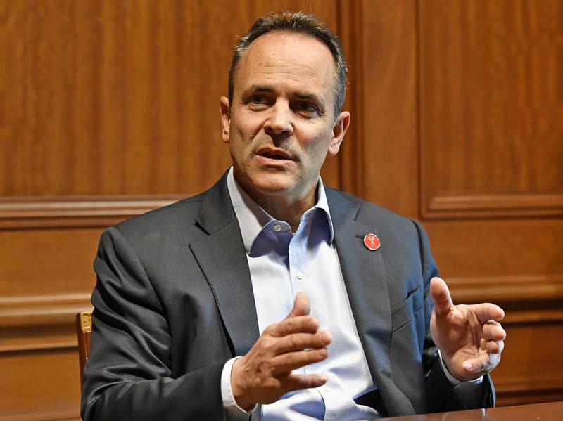The diabolical maniac, and former Kentucky governor, Matt Bevin. (Timothy D. Easley/AP)