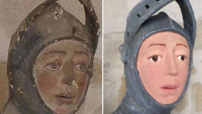 """St. George: before and after the """"restoration."""""""