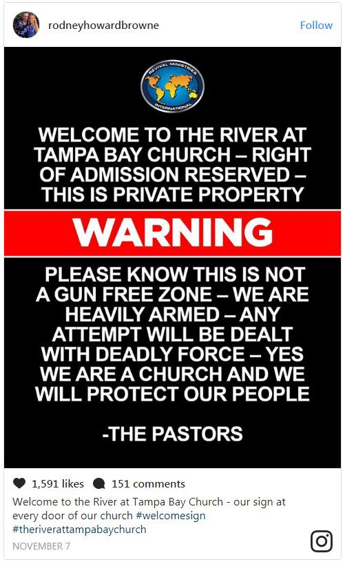 """Florida Pastor Brags On Social Media How Everyone At His Church Is """"Heavily Armed"""""""