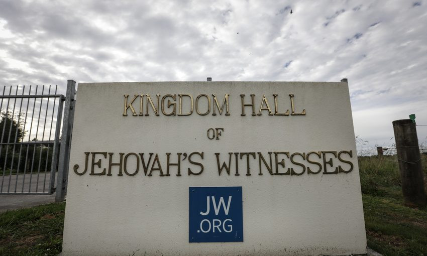 A sign for the Jehovah's Witnesses.