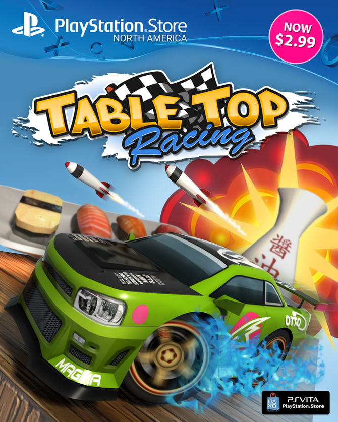 'Table Top Racing' on PlayStation Vita price permanently dropped to an eye popping $2.99 (NA