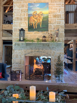 Cozy 2-Sided Fireplace