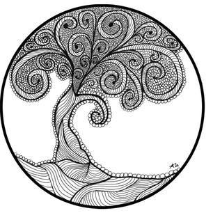 ras challenge day 10 zentangled tree of