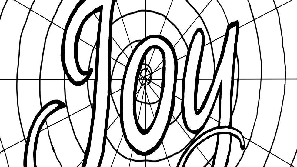 Zentangle Coloring Sheet - Joy