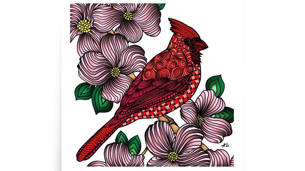 Zentangled Cardinal Poster