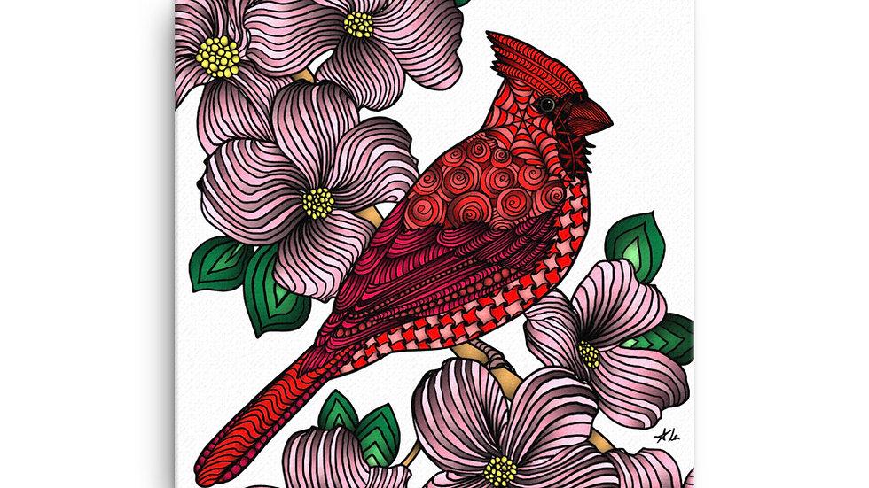 Zentangled Cardinal Canvas