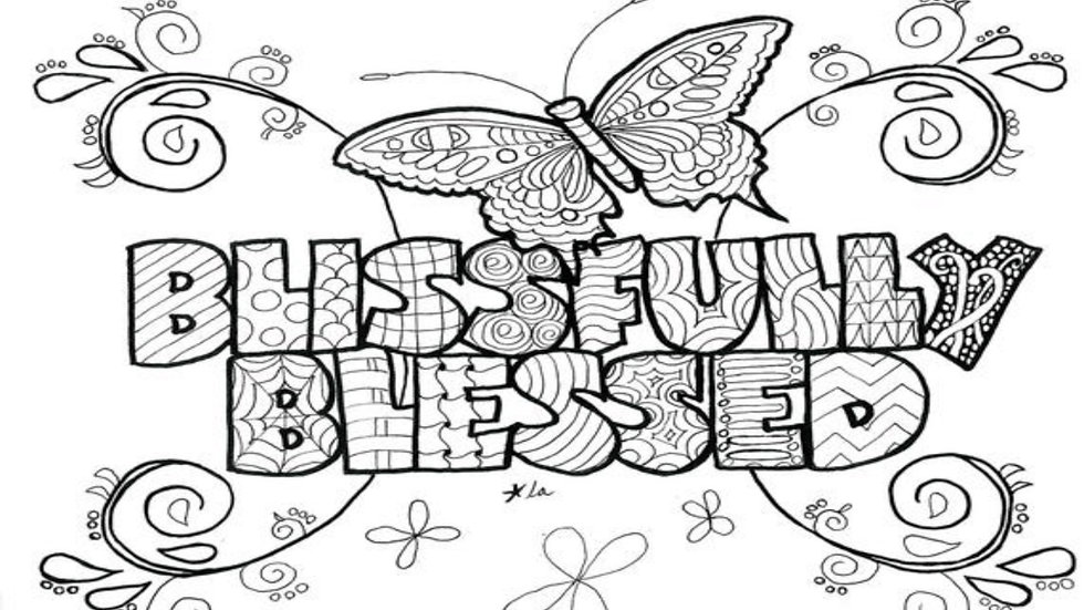 Zentangle Coloring Sheet - Blissfully Blessed