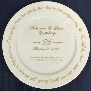 A beautiful memento for 25th anniversary