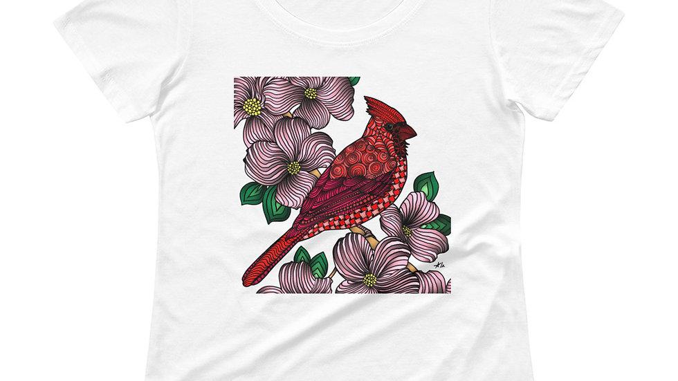 Zentangled Cardinal Ladies' Scoopneck T-Shirt
