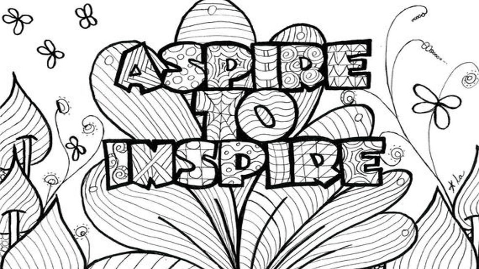 Zentangle Coloring Sheet - Aspire to Inspire