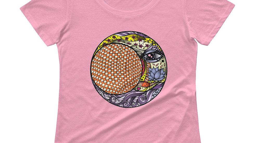 Ladies' Scoopneck T-Shirt  Inside the Lunar Eclipse