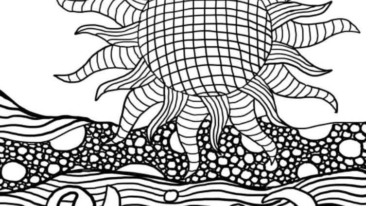 Zentangle Coloring Sheet - Shine